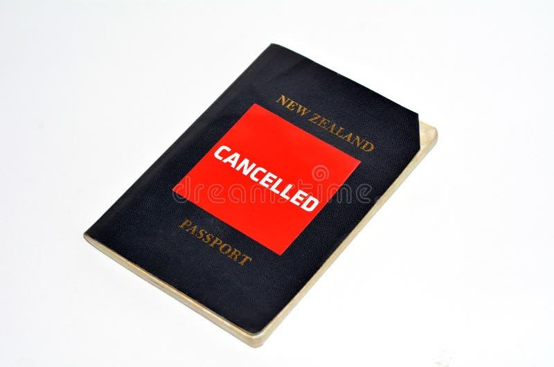 Avbrutet nyazeeländskt pass arkivfoton