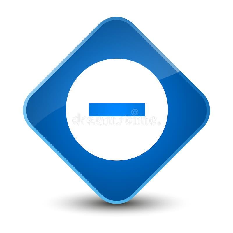Avbryt den eleganta blåa diamantknappen för symbolen stock illustrationer