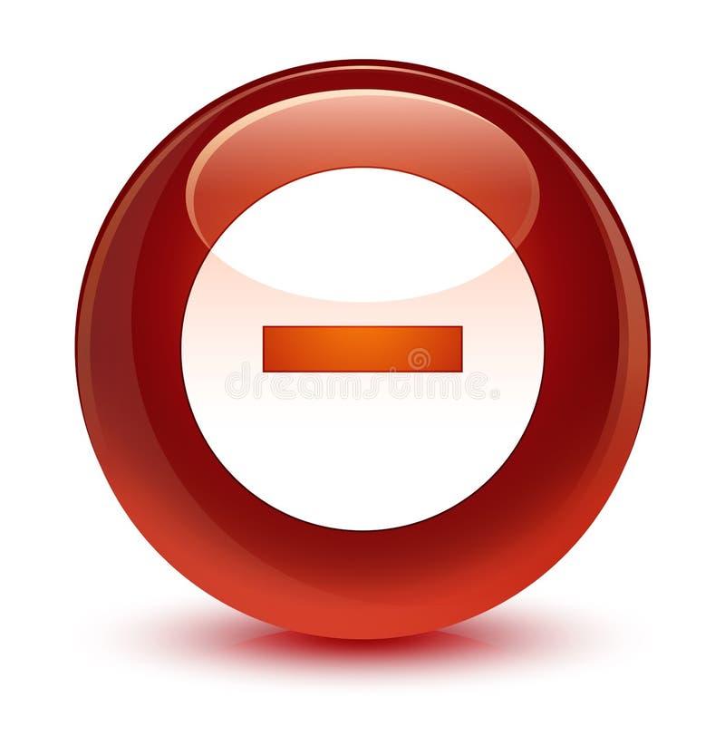 Avbryt för bruntrundan för symbolen den glas- knappen vektor illustrationer