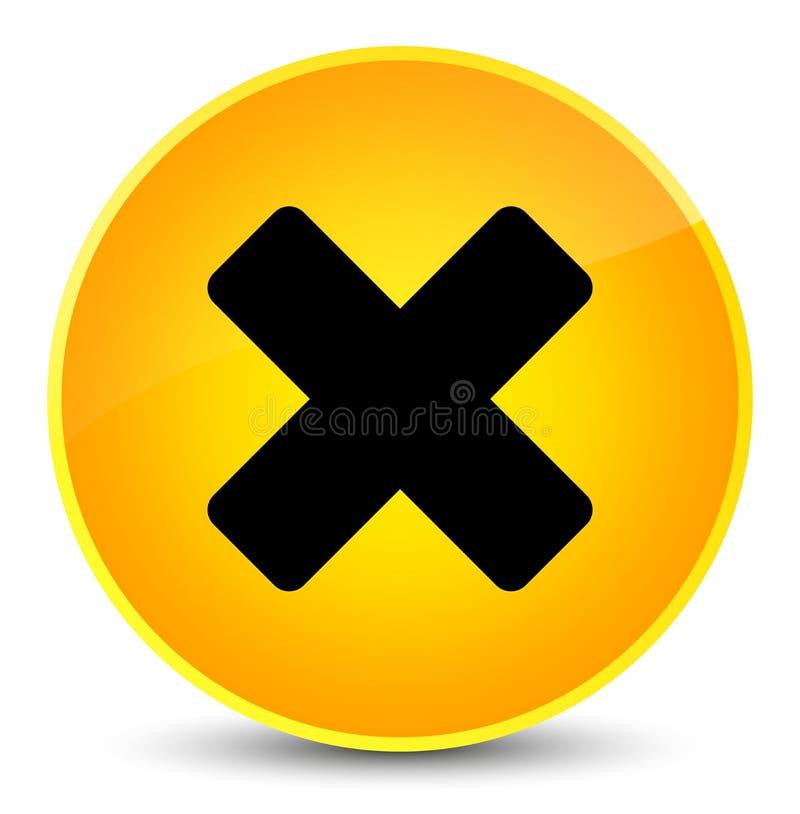 Avbryt för gulingrundan för symbolen den eleganta knappen vektor illustrationer