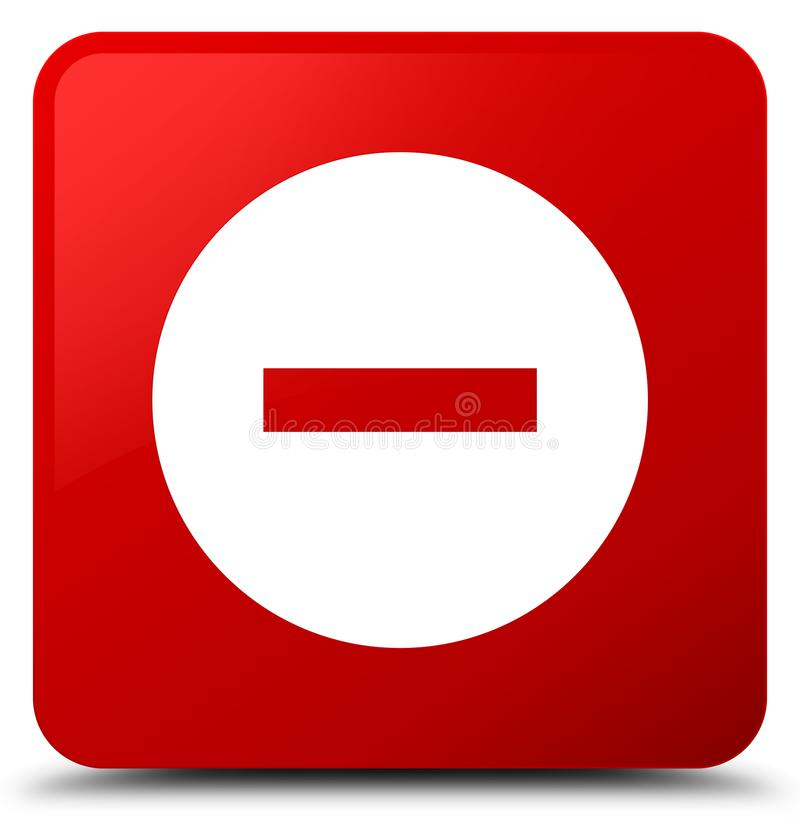 Avbryt knappen för den röda fyrkanten för symbolen stock illustrationer