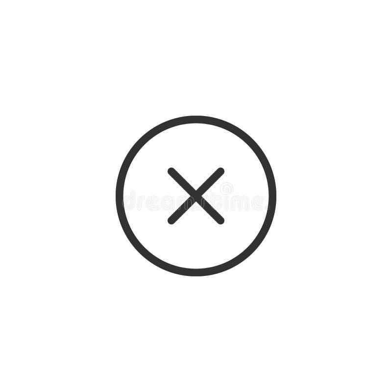Avbryt linjen symbolsdesign vektor illustrationer