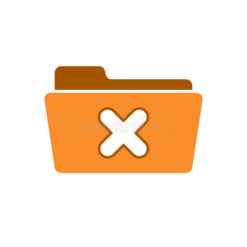 Avbryt logouten för borttagningsutgångsmappen tar tätt bort symbolen royaltyfri illustrationer