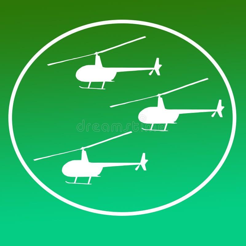 Avbrytarhelikoptrar Logo Banner Background Image vektor illustrationer