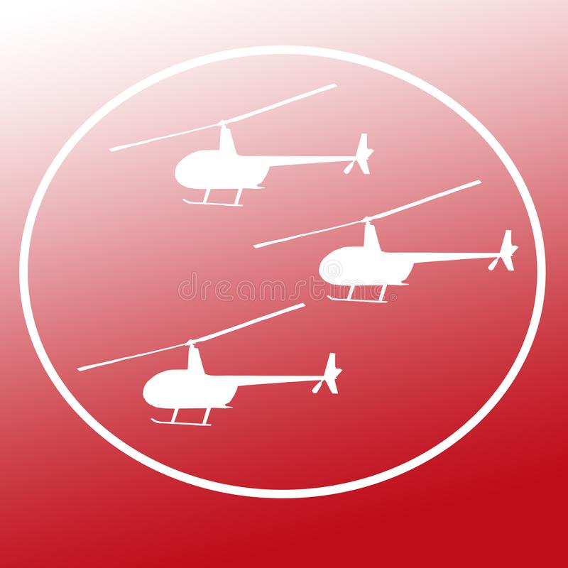 Avbrytarhelikoptrar Logo Banner Background Image stock illustrationer