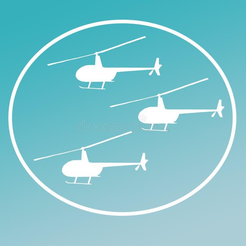 Avbrytarhelikoptrar Logo Banner Background Image royaltyfri illustrationer