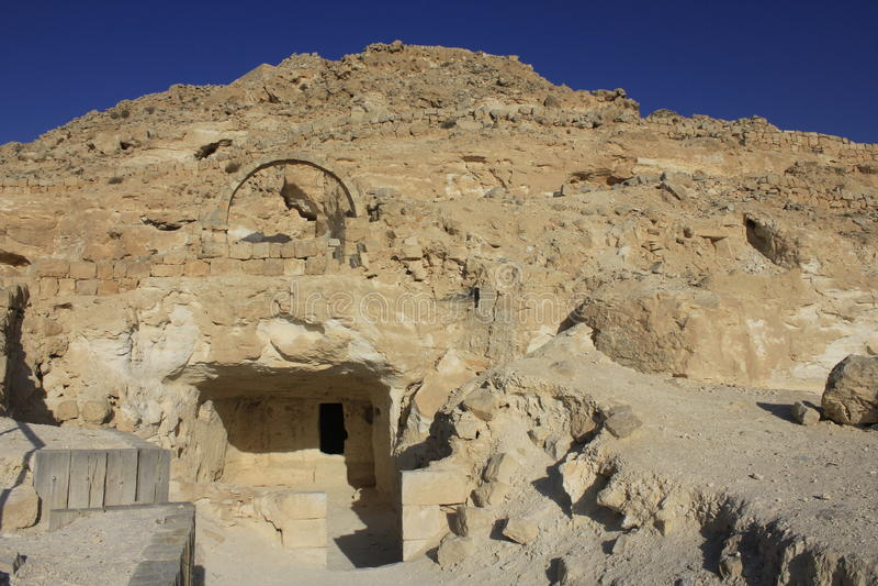 Avdat, Nabatean市古老废墟  免版税库存照片