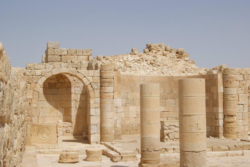 avdat kyrkliga israel fördärvar royaltyfria bilder