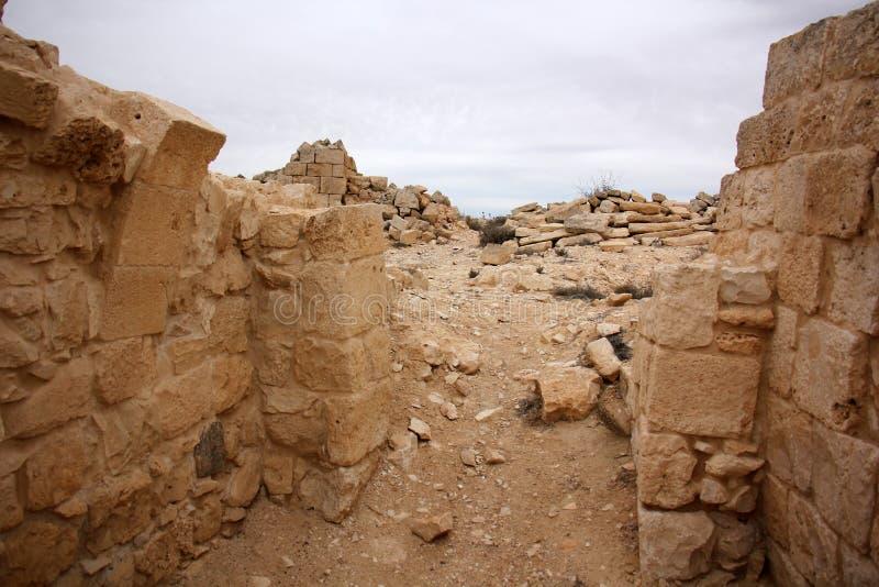 Avdat - Nabataeans古城 图库摄影
