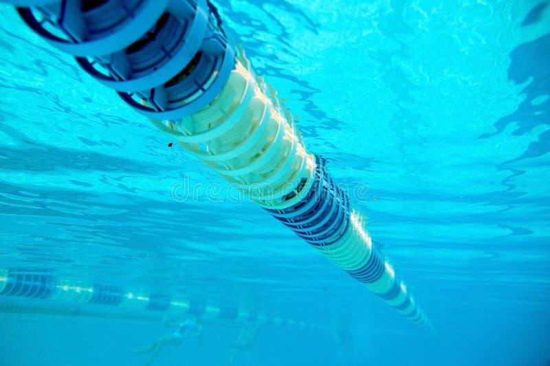 Avdelare av banor i den stora simbass?ngen royaltyfri fotografi