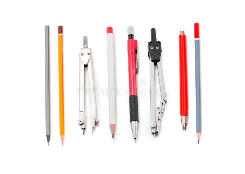 Avdelare med blyertspennor arkivbilder