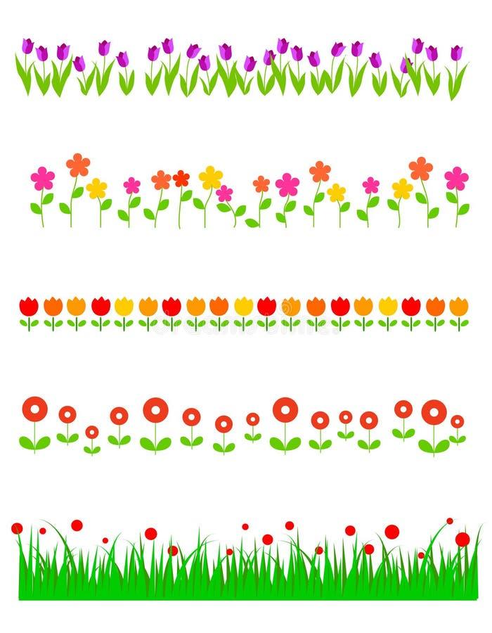 avdelaren blommar linjen stock illustrationer