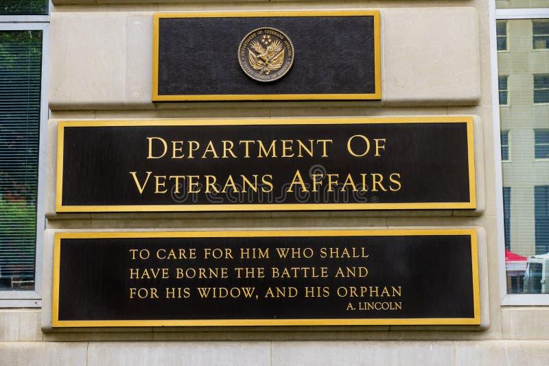 Avdelning av veteranangelägenhetWashington DC arkivbilder