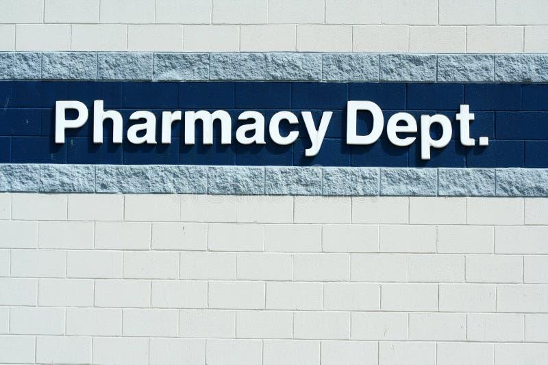 avdelnings-apotektecken arkivfoton