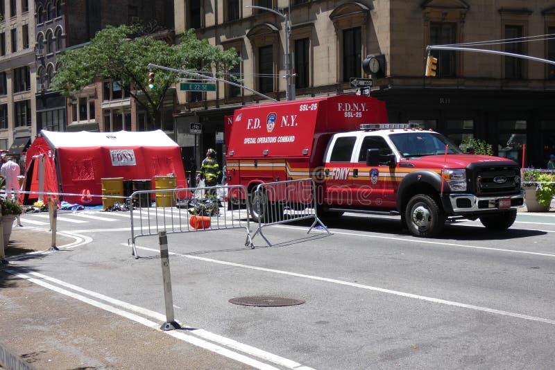 avdelningsbrand New York fotografering för bildbyråer