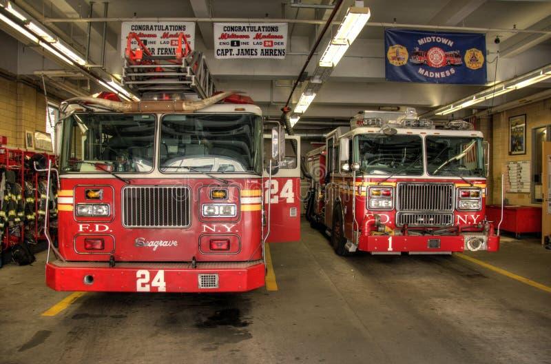 avdelningsbrand New York arkivbilder