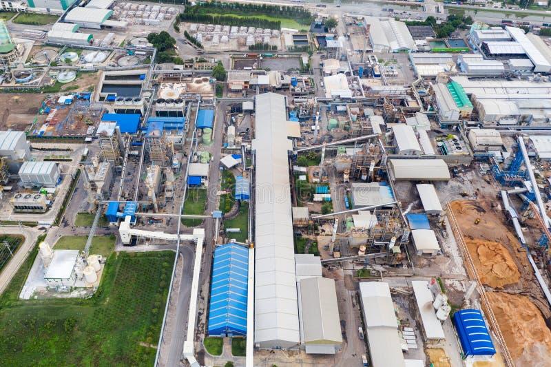 Avdelningskontor för elkraftväxt, Export-orienterat fabriks- förpacka för papper och korrugerad bransch arkivfoto