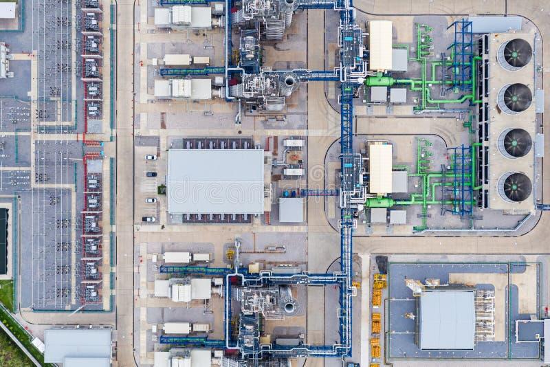 Avdelningskontor för elkraftväxt, Export-orienterat fabriks- förpacka för papper och korrugerad bransch arkivbild