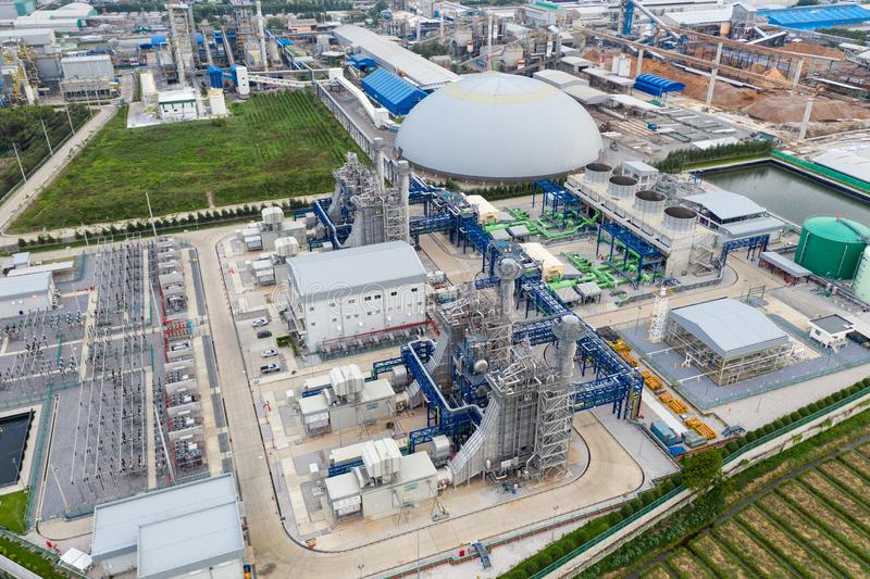 Avdelningskontor för elkraftväxt, Export-orienterat fabriks- förpacka för papper och korrugerad bransch arkivbilder