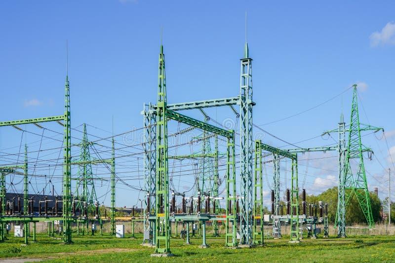 Avdelningskontor f?r omformning f?r elektricitets- och kraftgenereringbranschelkraft royaltyfri foto