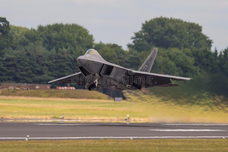 Ave de rapina de Lockheed Martin F-22 imagem de stock