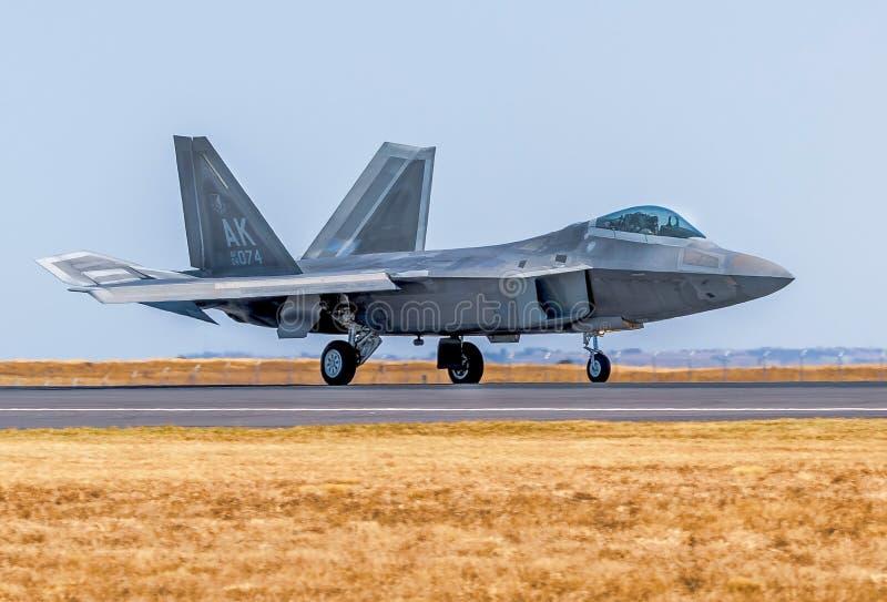 Ave de rapina de Lockheed Martin F-22A imagens de stock