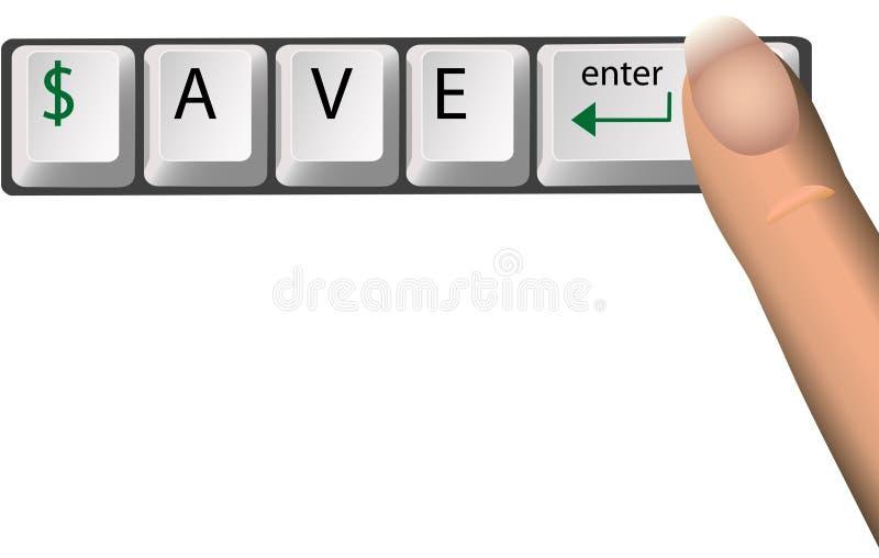 $AVE de Sleutels van het toetsenbord royalty-vrije illustratie