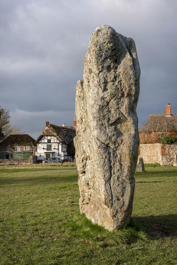 Avebury henge neolityczny zabytek zdjęcia royalty free