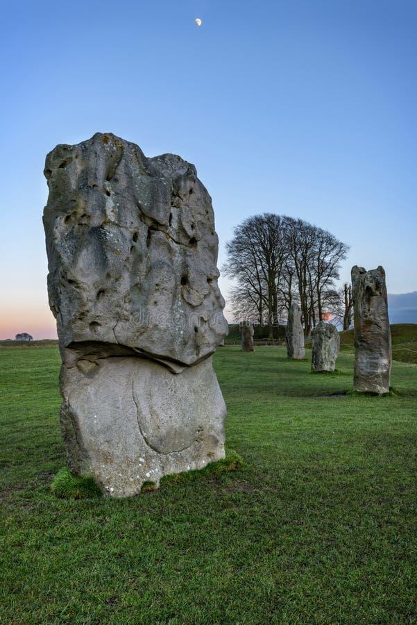 Avebury henge neolityczny zabytek obrazy stock