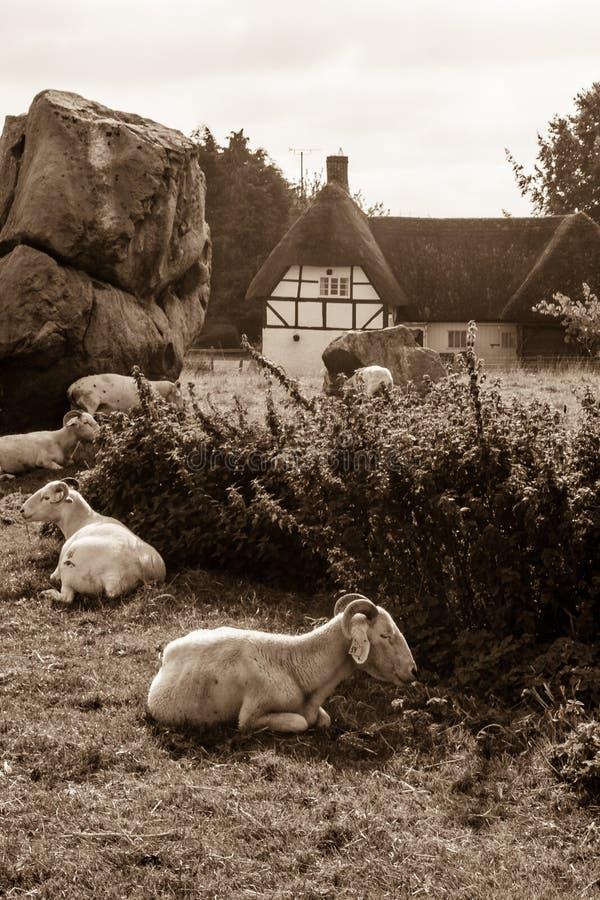 Avebury, Neolityczny henge zabytek, UNESCO światowego dziedzictwa miejsce, Wiltshire, południowo-zachodni Anglia obrazy stock