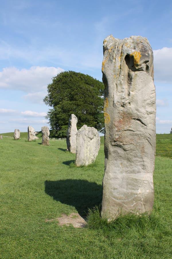 Avebury pozyci Neolityczni kamienie obrazy royalty free