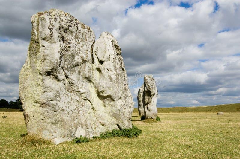 Avebury Stones and moody sky stock photos