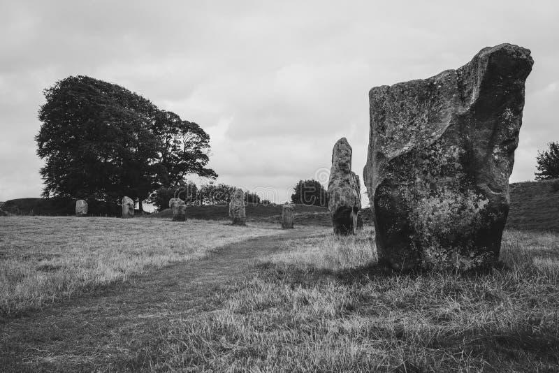 Aveburystenen, het UK, Wiltshire royalty-vrije stock afbeelding