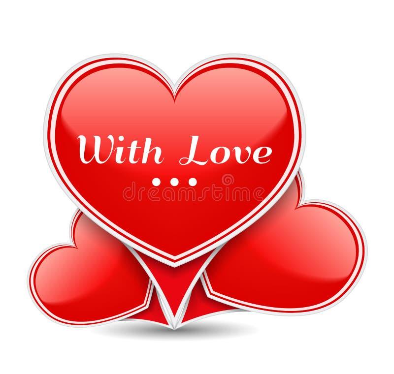 Avec amour illustration de vecteur
