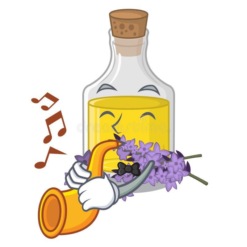 Avec l'essence de lavande de trompette dans la forme de caractère illustration de vecteur