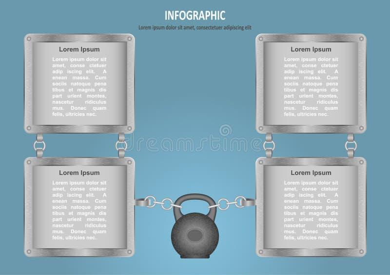 avec la chaîne d'extrémité de cloche de bouilloire illustration libre de droits