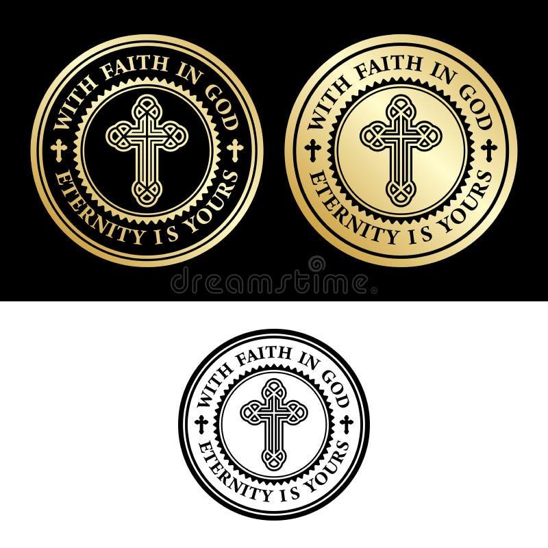 Avec la foi dans Dieu illustration libre de droits