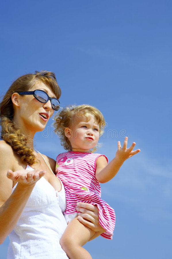 Avec la maman photographie stock libre de droits