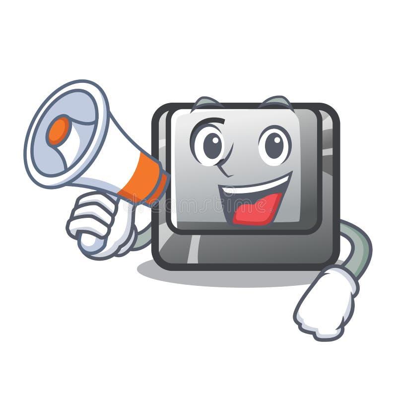 Avec le bouton C de mégaphone sur un caractère de clavier illustration libre de droits
