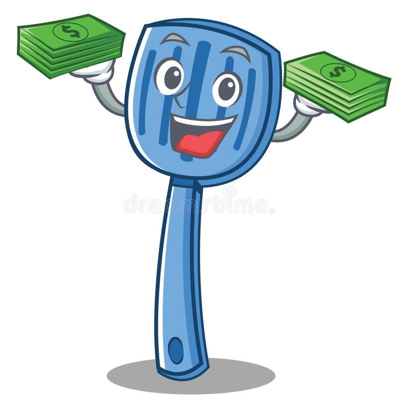 Avec le style de bande dessinée de caractère de spatule d'argent illustration stock