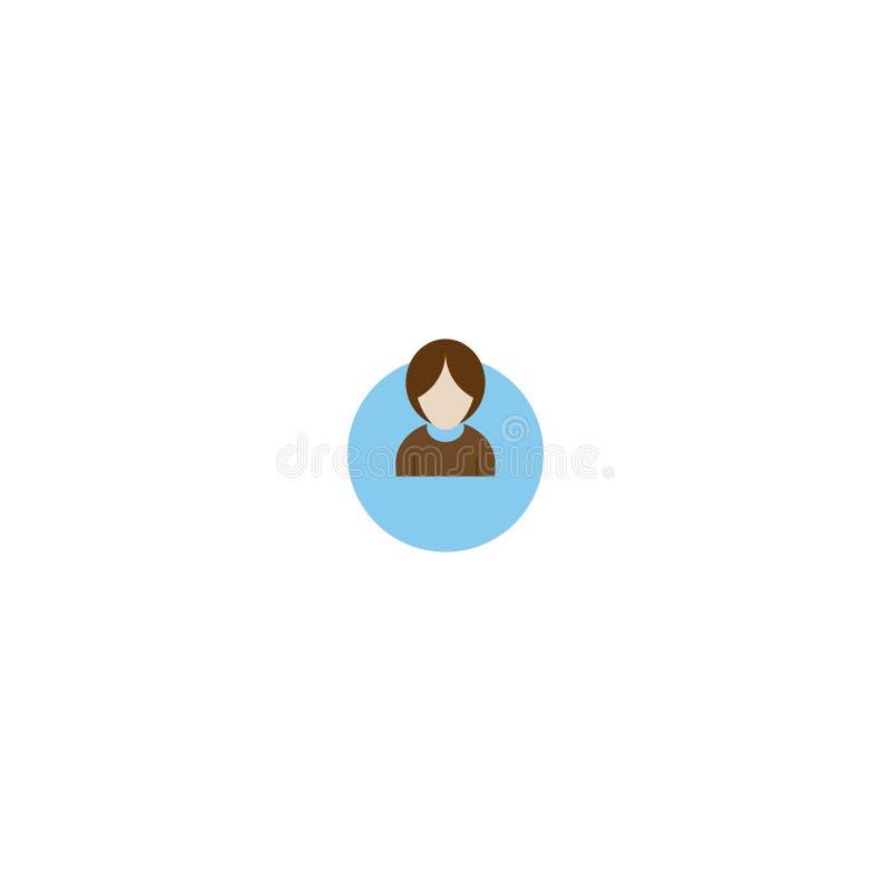 Avector kobiety z biznesowym avatar profilem zdjęcie stock
