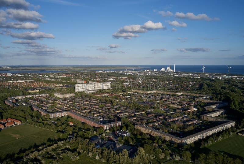 Avedoere stationsby, Dinamarca imagen de archivo