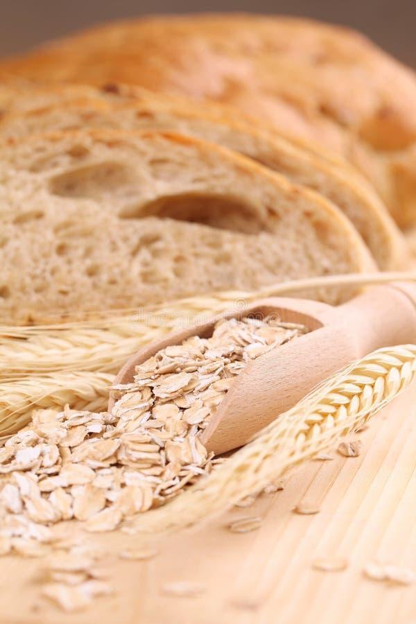 Aveia e pão imagens de stock