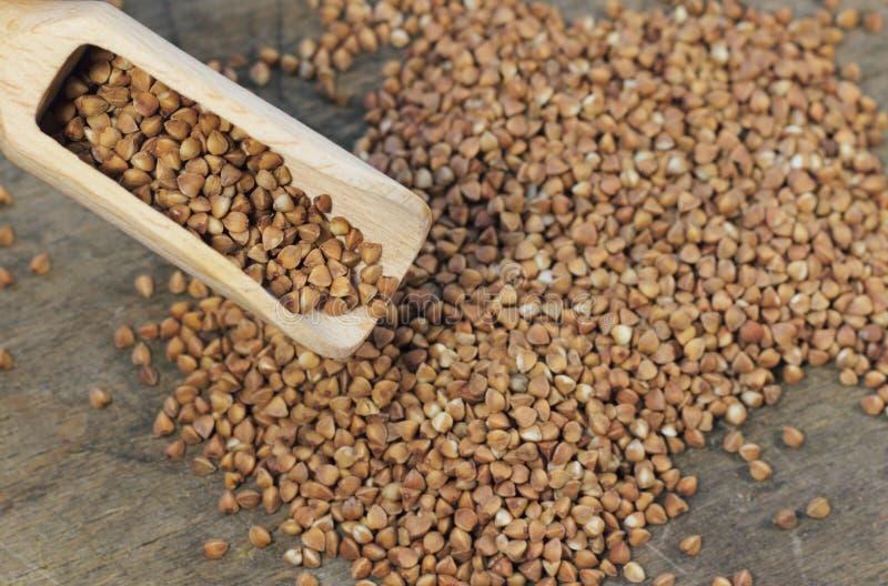 A aveia em flocos de trigo mourisco útil fotografia de stock royalty free