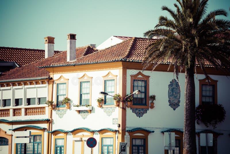 Aveiro, Portogallo Vista tipica della costruzione immagini stock
