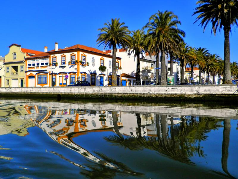 Aveiro, Portugal, beautiful city in northwestern Portugal, Portuguese Venice stock photo