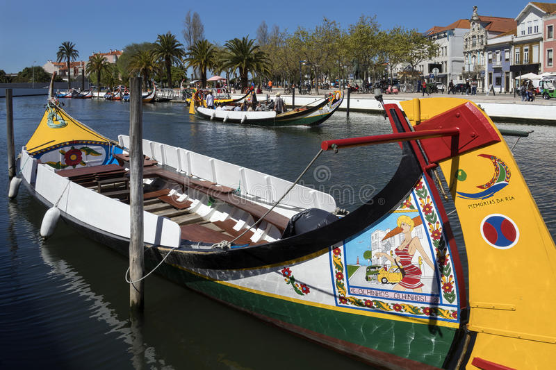 Aveiro - Portugal. Aveiro, known as the Venice of Portugal, is a popular tourist destination in the Centro region of Portugal royalty free stock images