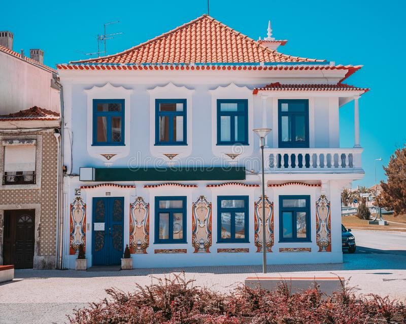 AVEIRO, PORTUGAL - 2018 : maison photographie stock