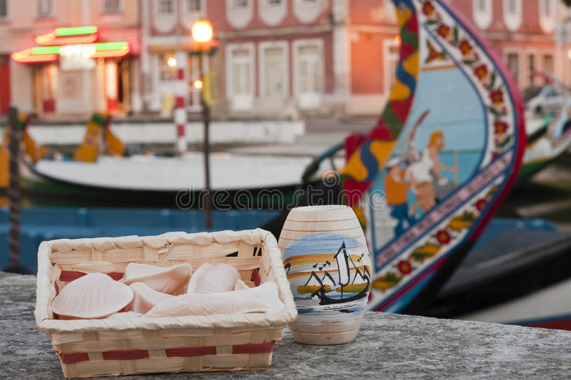 Aveiro Sweets. Sweets from the city of Aveiro Ovos Moles stock photography