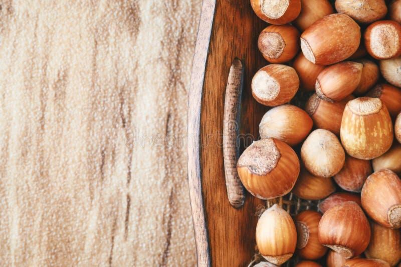 Avelã orgânicas maduras imagem de stock